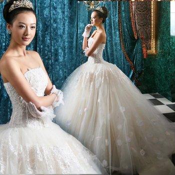 2012 bride wedding elegant sweet princess wedding dress tube top type 2267 free shipping discount