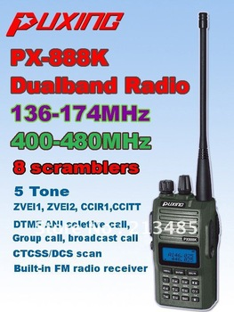Camouflage PUXING PX-888K dualband dual frequency UHF 400-480Mhz VHF 136-174MHz two way radio walkie talkie transceiver