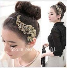 headwear a44302 ultra-elegantes hairbands tecido resina de plantas, cabelo Phoenix cabelo aro acessórios de cabelo Grampo do escritório de moda 2012(China (Mainland))