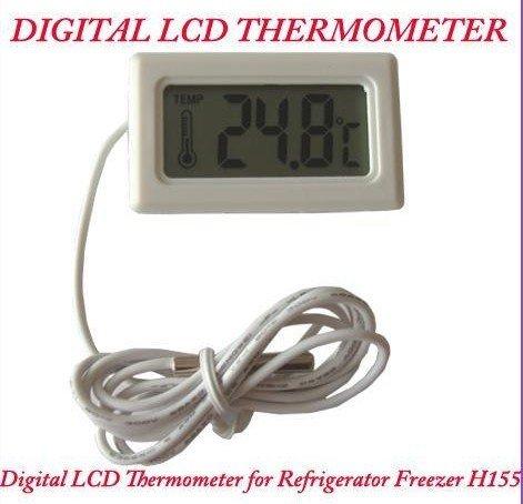 Светодиодный дисплей 4pcs New White Digital LCD Thermometer for Refrigeratorzer Thermometer H155