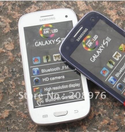 inch i9300 WIFI TV mobile phone support bluetooth vedio FM JAVA dual