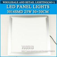 Wholesale 20PCS LED Bulbs Panel Lights 3014SMD 30*30CM 25W Warm white/cold white AC85-265V Free Shipping / DHL
