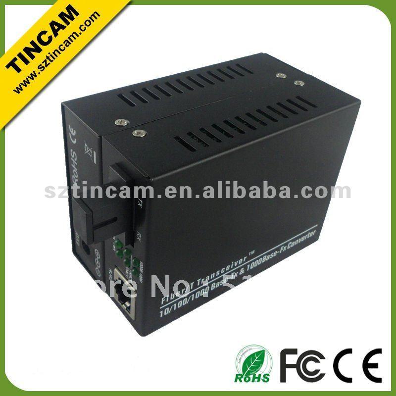 10/100/1000TX To 1000FX Single Fibre (WDM) Fiber Optic Media Converters Single-Mode 20km, TX1310nm - RX1550nm,Fiber Telecommunic(China (Mainland))