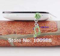 IP111 10pcs/Lot free shipping green stone music sign dust plug