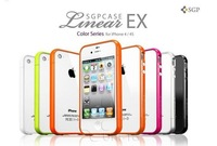 Чехол для для мобильных телефонов 1PC/LOT Hongkong Post Multicolor Signal circle Case Bumper for iphone 4 4s, with retail packaging