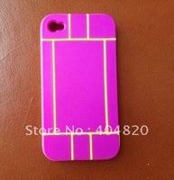 Чехол для для мобильных телефонов Brand New High Quality Cell Phone Silicone Case For iPhone 4S 4G 4 Red+White 902730-J12039-RW