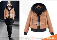 Free shipping- Newest Women's hooded winter warm coat, lady's winter FAUX fur collar warm winter parkas, S M L