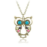 (Mix Minimum order is 10USD) Big Eye Owl Necklace Jewelry