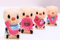 free shipping resin craft arts cute animal pig doll home decoration gift car for lover kids friends wedding novely creative S
