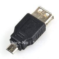 OTG USB 2.0 Female to Micro USB 5 Pin Male Adapter Converter for Samsung i9100 9300 HTC Blackberry,  100pcs/lot