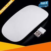 Mini Ultra Thin 2.4G Wireless RF Mouse computer cordless Magic Multi-touch Scroll Mice Wheel Receiver free shipping