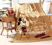 Плед Cartoon baby coral fleece sleeping blanket bedding sheet home/travel/picnic blanket rug plaid 150*200cm