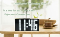 Energy-saving Color White LED Digital Alarm Clock Decoration For The Walls