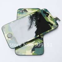 Hot Sale!! Camouflage Front Touch Screen LCD Assembly+back Housing+Button For Iphone 4 4G Free Shipping