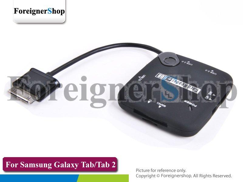 50 pcs USB HUB CONNECTION KIT 30 Pin OTG Card Reader For Samsung Galaxy TAB 2 10.1 7.0 P7500 P7510 P7300 P7310 P5100 P3100 P6800(China (Mainland))
