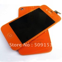 Orange LCD display Digitizer Touch Screen Assembly & Back Housing for iPhone 4 4G Free Shipping