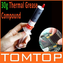30g Grey Thermal Grease Paste Compound Silicone for CPU Heatsink Heat Sink Free Shipping Wholesale(China (Mainland))
