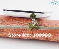 IP151 10pc/Lot free shipping cheap rhinestone phone anti dust plug