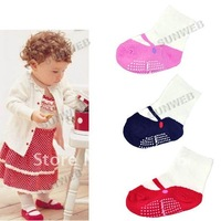 Wholesale-free shipping 3 designs Baby socks infant cotton socks Anti-Slip Socks 5882