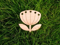 snug blowball wooden brooches