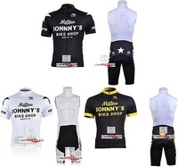 Tour de France 3 colors Brand New Mellow JOHNNY'S team Cycling Clothing Jersey and Bib Shorts Sets. Free shipping!