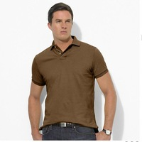 2012 Mens Poloshirt T Shirt Embroidered Mens Short Sleeve Polo Fashion Casual Slim Fit Cotton Shirts T8011