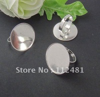 Fit 20mm Glass Cabochons Antique Bronze Ring Blanks Settings,100pcs A lot  , Ring  Findings Jewelry Base, Wholesales Price!