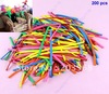 Wholesale 200 pcs Mix-color Wedding Birthday Party Decoration Assorted Latex Long Balloon+Free Shipping