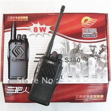 8W 16CH Walkie Talkie UHF/VHF Three fire S360 Interphone Transceiver Two-Way Radio Mobile Portable Handled
