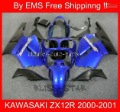 Free Shipp fairing kit for KAWASAKI ZX12R 00 01 ZX-12R ZX 12R 00-01 2000-2001 2000 2001 Blue 2372