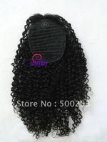 Kinky Curl Virgin Mongolian Human Hair Ponytail