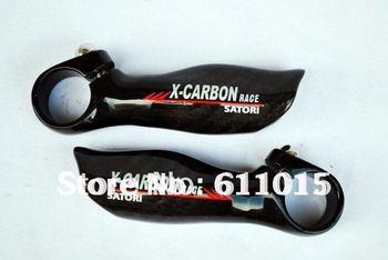 Free Shipping  New  X carbon Full Carbon Fiber Bar End Handlebar Bicycle  MTB Ergonomic/bicycle bar end/bike bar end  2 pairs