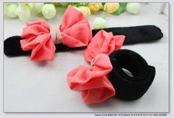 FREE SHIPPING 12 pcs/lot multifunction big bowknot style women girl lady headbands & elastic bracelet hoops H9105