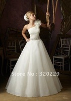 2012Brand Newone Flowers   wedding Dress/Party Gown size&color:Custom LJ590