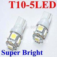 Freeshipping T10 bulb 5SMD 5050 24months warranty white 100pcs/lot car side light,car led lighting,auto led light ,wholesale