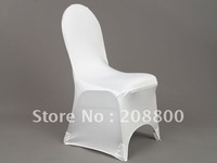 Free shipping/High quality white spandex chair cover/High quality white lycra chair cover