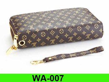 WA-007 Sino wholesale  famous brand wallet  men fashion wallet women fashion pu leather purse 10pcs/lot free shipping