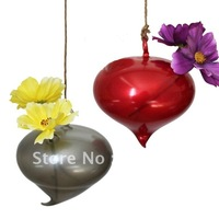 Hanging Glass Vase, crooked tail vase for flower, 4 pcs/lot, Home/Gardening Decoration, Free Shipping CY19
