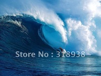 Hand-painted Seascape Sea surf ocean waves painting Oil Painting on Canvas Art/Free shipping surfing sea oil painting/sa-1293