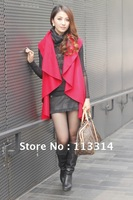 Free shipping! 2012 newest Autum / spring / fashionable women's jacket / red / black / hot