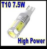 Free shipping wholesale T10 7.5W  white  LED Auto Car Signal Light Aluminum housing Interior Dome Roof Reading Car Light