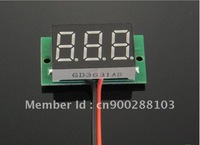 10 PCS/LOT DC 2.5V to 30V red LED Digital Panel Meter Power Monitor Lithium Battery Indicator Voltmeter #0008