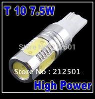 Free shipping Super Bright T10 7.5W LED white  LED Car Light Bulb Lamp Back Up Rear Reverse