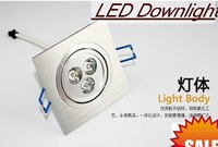 3w Square LED Downlight  Wholesale - 20pcs/lot  85-265V 3x1W   High Power Energy Saving LED lamp