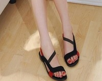 FREE SHIPPING 2012 HOT SALE G103 high quality flat dress shoes women's fashion genuine leather sandals size 34-40