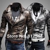 Free Shipping Rare crocodile skin water man cultivate one's morality big turndown fashion brief paragraph leather jacket(China (Mainland))