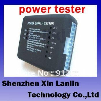 ATX power tester 20 PIN / 24 PIN SATA interface  power supply testing 1pc free shipping #6960