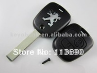 Original  407 307 207 2 buttons car key shell blank with groove on side of blade for Peugeot Key