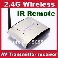 2.4GHz AV Sender TV Audio Video Wireless Transmitter Receiver System IR Remote 150M