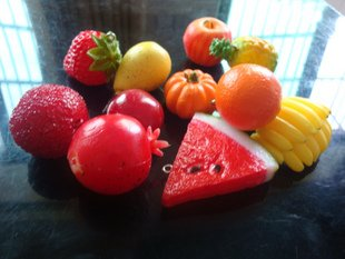 Simulation Apple, Banana, Strawberry Fruit Mobile Phone Chain, promotion cell phone charm, Best gift